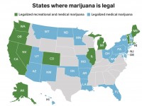 USA cannabis map